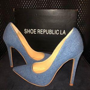 Shoe Republic LA Heels: Denim Blue